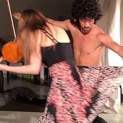 Ekstase Performance in der europäischen Kunstakademie Trier - szenische Musikperformance in Kommunikation mit dem Tanz